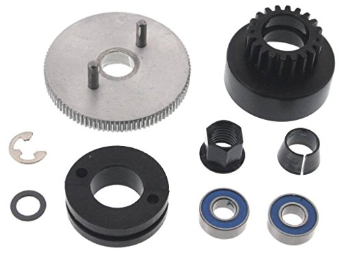TRAXXAS CLUTCHBELL 5217, THIS CLUTCH BELL FITS ALL TRAXXAS 1/10 CARS AND TRUCKS, COMES WITH FLYWHEEL, CLUTCH SHOES, SPRING,SPLIT BEVELED CONE, FLYWHEEL NUT AND BEARINGS 4146X,4142,3281,5244,5116 - Car Flywheel
