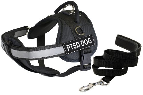 Dean & Tyler 25 by 34-Inch PTSD Dog Harness with Padded Puppy Leash, Small by Dean & Tyler