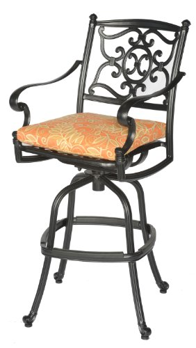 Meadow Décor K3B2-W5448 Kingston 3-Piece Patio Bar Table Set, 36-Inch, Walnut (Meadow Decor Set Table)