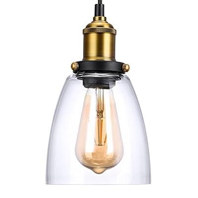 Oak Leaf Pendant Lighting,Industrial Vintage Style Bell Pendant Light Glass Light Shade E26
