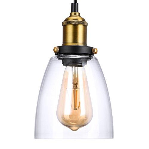 Oak Leaf Pendant LightingIndustrial Vintage Style Bell Pendant Light Glass Light Shade E26  sc 1 st  Amazon.com & Hanging Light Fixtures with Leaves: Amazon.com azcodes.com