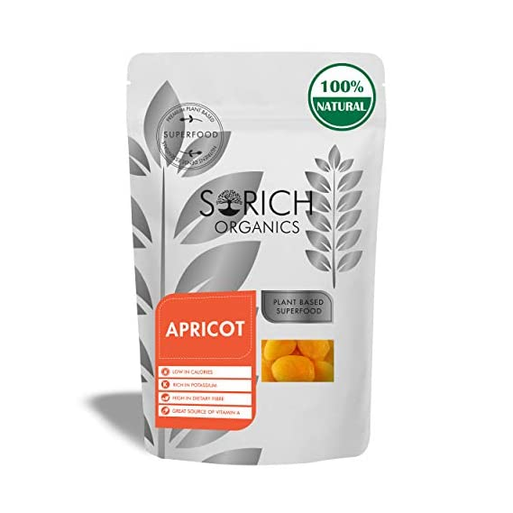 Sorich Organics Dried Apricot Unsulphured Unsweetened and Naturally Dehydrated Fruits 200 Gm