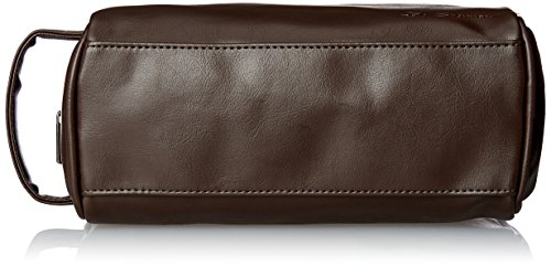 Ben Sherman Luggage Noak Hill Collection Vegan Leather Toiletry Travel Kit, Shiny Brown, Single Compartment
