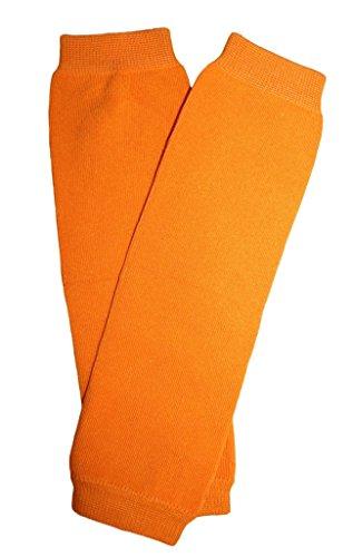Kids/Baby/Toddler/Infants solid orange Leg Warmers (Halloween Leg Warmers Toddler)