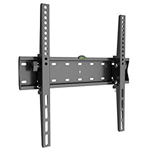 "Husky Mount Tilting Flat Slim TV Wall Mount Bracket Fits Most 32 40 42 46 47 50 52 55"" & other LED LCD Flat Screen Max VESA 400X400 or 16""X16"" Pattern(please measure distance between TV holes & Studs)"