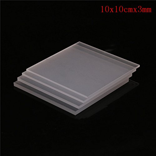 BIN BON - 1 x Acrylic Sheets 2-5mm Thickness Clear Acrylic Perspex Sheet  Cut Plastic Transparent Board Perspex Panel