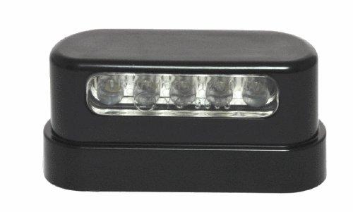 12V LED Kennzeichenbeleuchtung schwarz black Nummernschild f/ür Harle-Davidson Motorrad