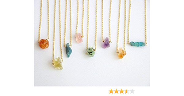 Quartz Necklace Mongolian Crystal gold fill chain Raw Quartz Crystal necklace Sterling Silver Crystal Quartz Necklace or Raw Quartz