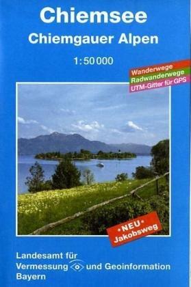 Topographische Sonderkarten Bayern. Sonderblattschnitte auf der Grundlage der amtlichen topographischen Karten, meist grössere Kartenformate mit ... 1:50000 (UK L) / Chiemsee und Umgebung