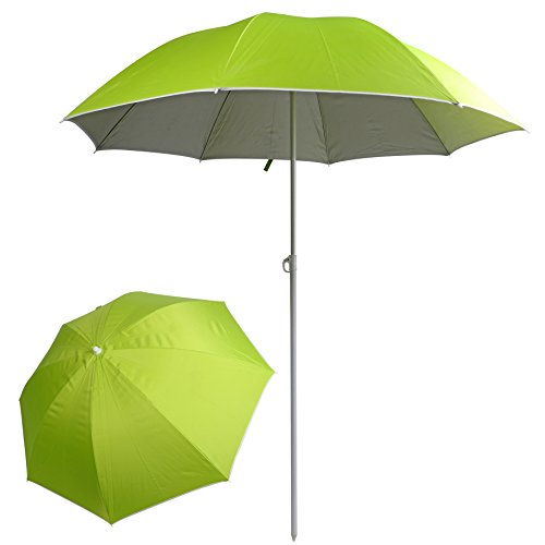 PORTAL 6-Feet Sun Protection Beach Umbrella Shelter Green by PORTAL