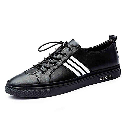 Chaussures Couleur Sport L'air Perméable Personnalité À Blanc Chaussures De Loisirs Taille De QIDI Les Noir Caoutchouc Mâle UK9 Solide Angleterre De Couleur EU43 Pa6wnnqT4