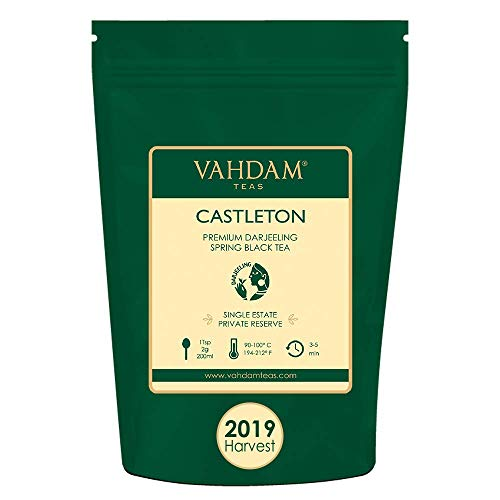 VAHDAM, 2019 First Flush Tea from Iconic Castleton Tea Estate | 3.53Oz, 100g | Exclusive Hand Picked Black Tea Loose Leaf | A Perfect Everyday Loose Leaf Black Tea