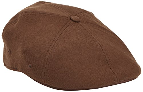 Kangol Unisex-Adults Wool Flexfit 504 Cap, Brown, L/XL (Kangol 504 Wool Cap Hat)