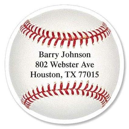 amazon com baseball personalized diecut return address labels set