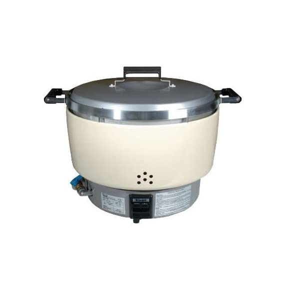 Rinnai 55 Cup Gas Rice Cooker/Natural Gas 1 Commercial gas rice cooker most dependable on the market CSA & NSF approved Cooks rice perfectly in small or large quantities Accurate/dependable thermostat saves time/money with gas