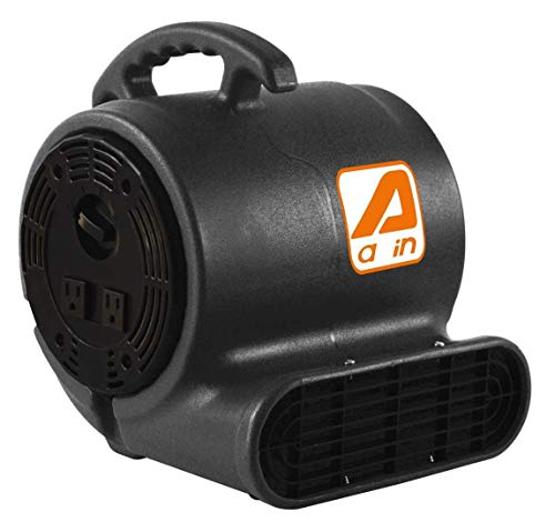 AAIN LT016 High Velocity Blower Fan,Industrial Air Mover,Utility ElectrIc Carpet Dryer Ideal for Wet Carpets, Floors,Walls & Ceilings 3-speed,800 CFM,1/3 HP