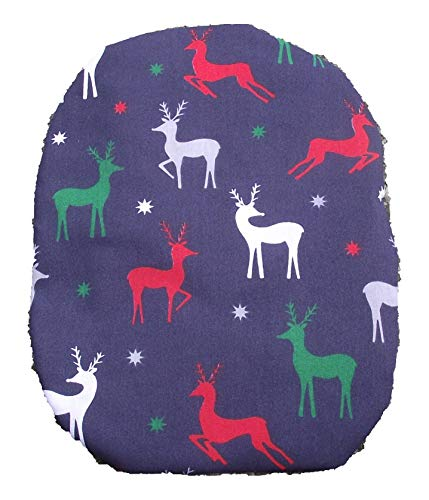 (Simple Stoma Cover Ostomy Bag Cover Christmas Reindeer Navy Blue)