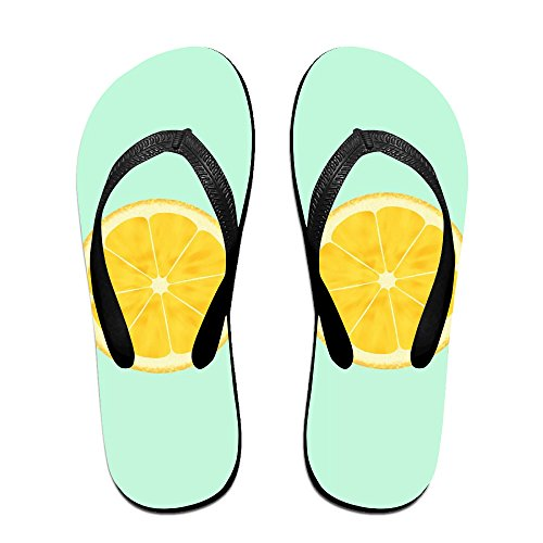 Loopkt Green Lemon Unisex Classical Comfortable Flip Flops Beach Slippers