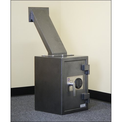 Protex Through-the-Wall Depository Safe With Drop Chute & Electronic Lock, 14