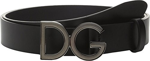 Gabbana Designer Belts (Dolce & Gabbana Men's Logo Buckle Belt Black)