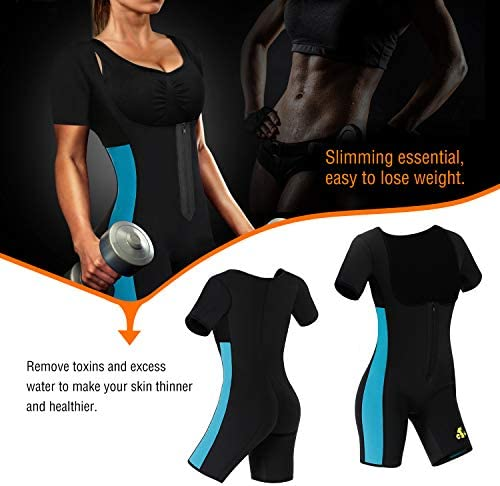 NonEcho Neoprene Sauna Full Shaper Sweat Body Suit Sleeve Slimming Shapewear Weight Loss 6