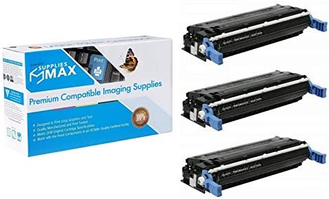 NO. 642A CB400A/_3PK 3//PK-7500 Page Yield SuppliesMAX Compatible Replacement for HP Color Laserjet CP4005//CP4005DN//CP4005N Black Toner Cartridge