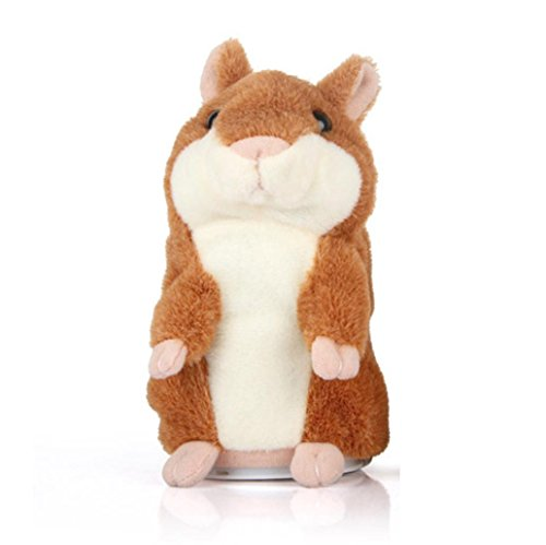 Besde Talking Hamster Plush Toys for Children Stuffed Animals Kids Mouse Dolls Gift (Coffee, ()