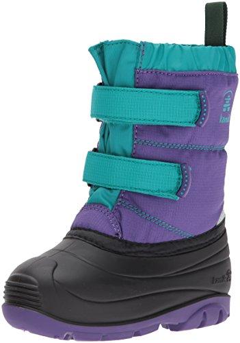 Kamik Girls' Pumpkin Snow Boot, Purple/Teal, 9 Medium US Toddler (Snow Winter Toddler Boots)