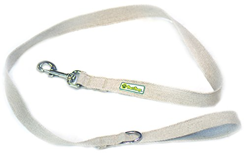 BallBoy The Natural Leash Hemp Webbing Dog Leash, Medium/3/4-Inch by 4-Feet Hemp Dog Leash