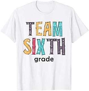 Back To School  Team Sixth Grade T-shirt | Size S - 5XL
