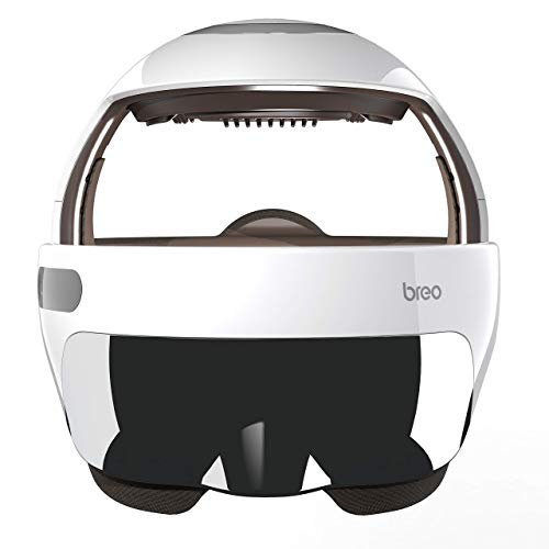 Breo iDream5s Electric Head Massager, Eye & Neck Massage Helmet with Heat, Kneading, Air Compression, APP Control Scratcher for Headache, Stress Relief, Deep Sleeping