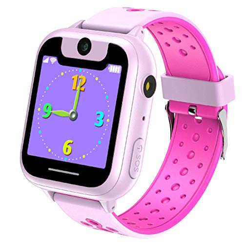 Kids Game Smart Watch 1.44 inch Touch Smartwatch Kid for Children Girls Boys Birthday Gift 3-12 with Camera Flashlight