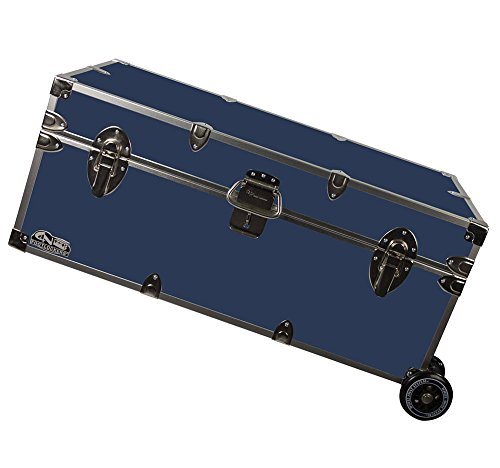 1edaad0123a04 Happy Camper Footlocker Trunk with Wheels 32x18x13.5 (Amazon)