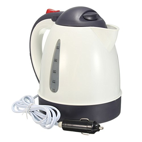 1000ml Car Portable Water Heater Travel Mains Kettle Auto 12V for Tea Coffee by Wanstar by wanstar