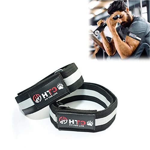 Occlusion Bands Biceps Triceps Training Bands for Lean & Fast Muscle Gaining of Arms, Legs Without Lifting Heavyweight (Black-White, M-24.50