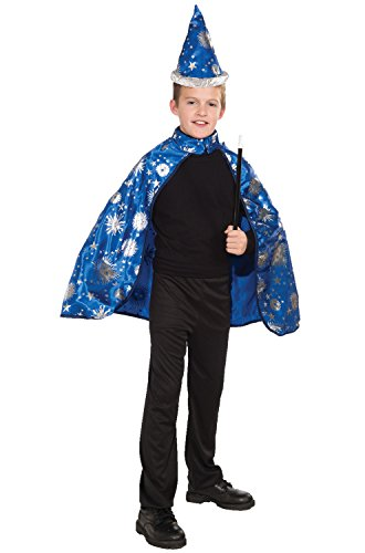 Wizard Cape - Forum Novelties Lil Wizard Cape and Hat Child's Costume, Medium