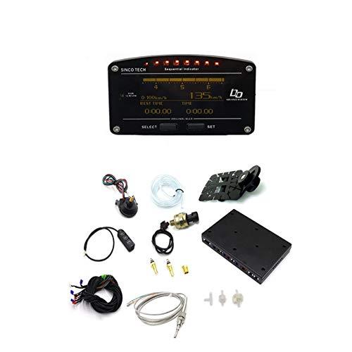 Displays Turbo Boost - LasVogos Car Race Dash LCD Display Turbo Boost Exhaust EGT Temp Tacho RPM Gauge Meter