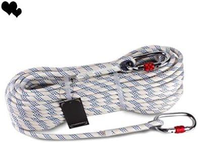 ZHWNGXO 10,5 mm Sicherungsseil, Nylon Soft/Wearable/Nicht leicht zu rutschen/Leichtgewichtler Tragfähigkeits 2800 Kg Arbeitsluftseil 20m / 30m / 50m / 80m / 100m (Color : White, Size : 80m)