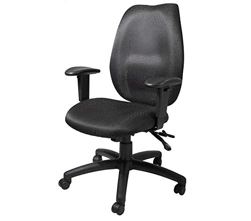 (Wood & Style Office Home Furniture Premium Office Products High Back Task Chair with Seat Slider in Black)