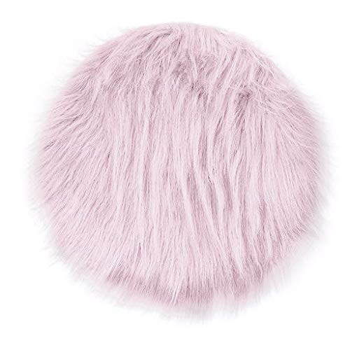 Lyperkin Ultra Soft Indoor Modern Area Rugs Fluffy Living Room Carpets, Wool Imitation Sheepskin Rugs Faux Fur Non Slip Bedroom Shaggy Carpet Mats, Suitable for Children Bedroom Home Decor(22)