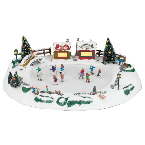 amazoncom mr christmas winter wonderland skating pond home kitchen - Ice Skate Christmas Decoration
