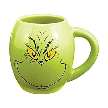 Dr. Seuss The Grinch 18 Oz. Oval Ceramic Mug