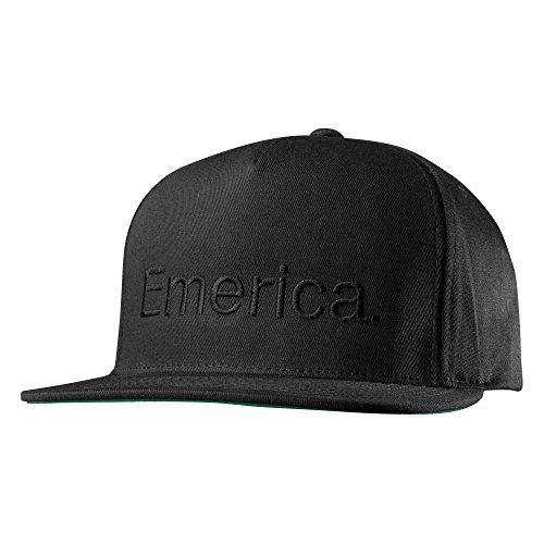 Emerica Men's Pure Snapback Cap, Black, One -
