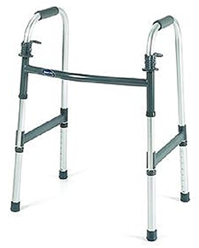 Invacare Dual Release Paddle Walker with Wheels-Junior: 3 inch wheels (4ft.4in - 5ft.7in),Each