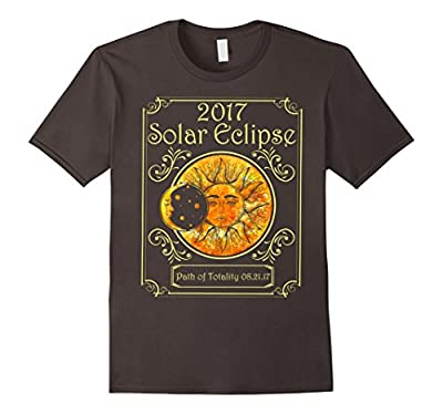 2017 Solar Eclipse Path Of Totality Art Moon And Sun T-shirt