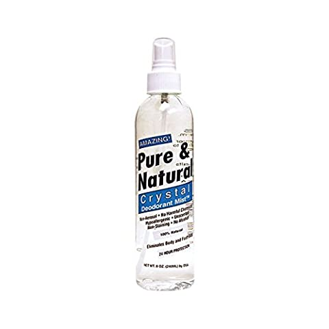 Thai Deodorant Stone Pure & Natural Crystal Deodorant Mist 8 oz Liquid - Thai Natural