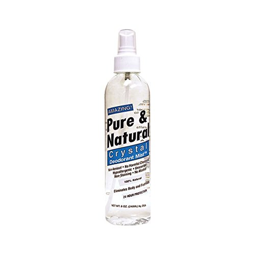 (Pure & Natural Crystal Deodorant Mist 8 Ounce Liquid)