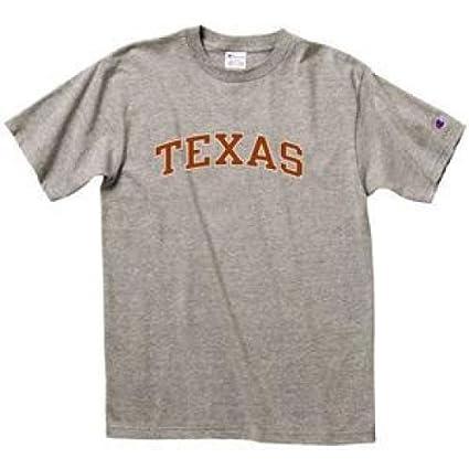 378904538 Champion Texas Longhorns T-shirt - Texas Arched - Mens - Oxford Gray - Small