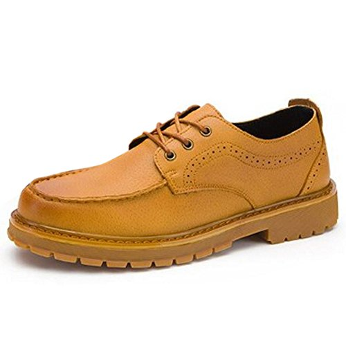 TAOFFEN Men Yellow Brown Up Lace Shoes Casual Construction ZpRqZ