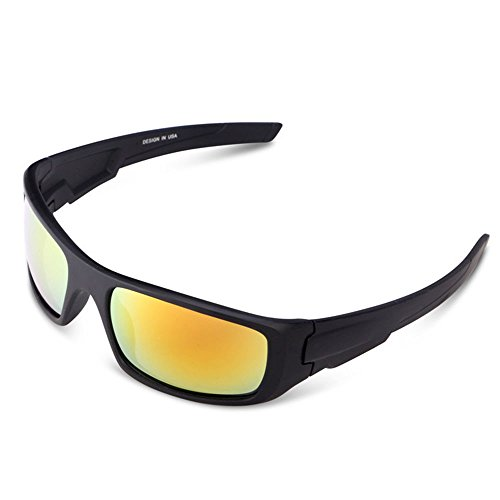 Sodagreen 2019 Film Polarized Sports Sunglasses,Uv Glasses Sun Glasses,Goggles for Men Driving Cycling Softball Baseball Hiking Fishing Mens Polarized Sunglasses Uv400 (D) (Best Sunglasses For Fishing 2019)